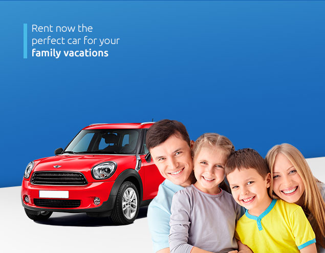 Rent now the perfect car for your family cavations
